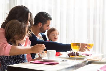 Child having breakfast