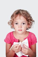 bambina con raffreddore