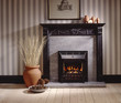 Lounge Room Georgian Set Fireplace - 72994760