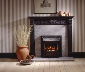 Lounge Room Georgian Set Fireplace
