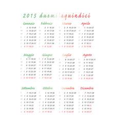 calendario 2015 colori italia quadrato