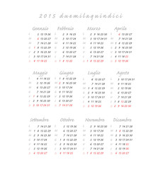 calendario italiano 2015 quadrato