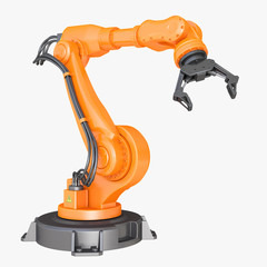 Robotic Arm isolated on white background