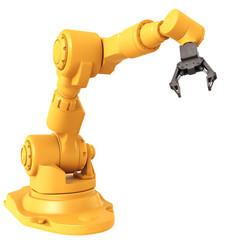 Robotic Arm isolated on white background