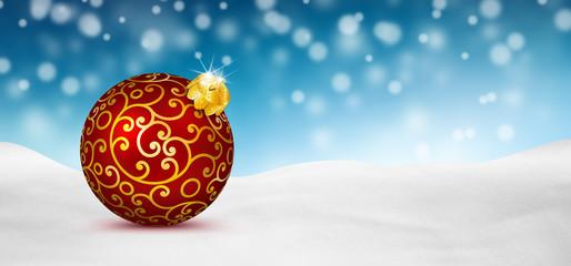 Weihnachtskarte, Winter, Schnee, blauer Himmel, Snow, blue sky