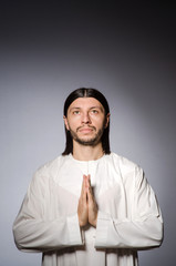 Priest man in religious concept