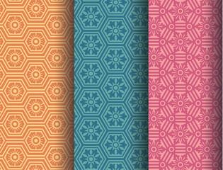 hexagonal patterns
