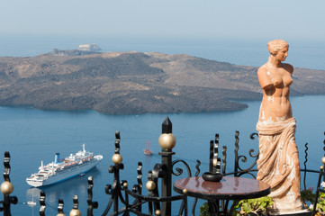 Statue of Aphrodite in Santorini, Greece