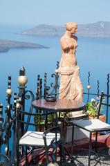 Statue of Aphrodite in Santorini, Greece
