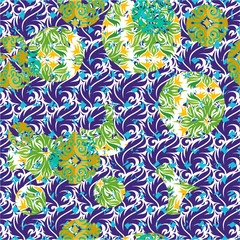 Seamless patterned frame