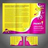 brochure folder paint colorful element design colorful