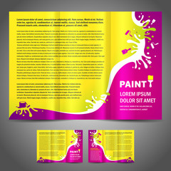 brochure folder paint colorful element design colorful