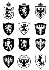 Set of shield heraldry