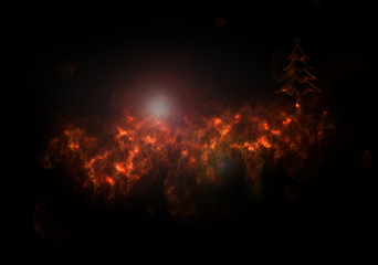2015 Christmas and New Year Greeting Card fiery