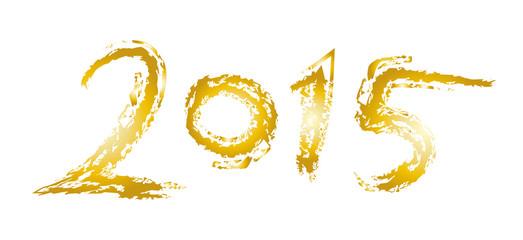 Neujahr 2015 - Goldene Jahreszahl