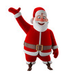 Cheerful 3d model of Santa Claus, happy christmas icon