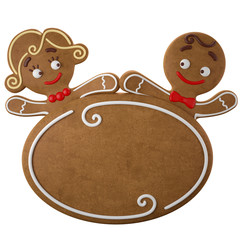 3d character, cheerful gingerbread, Christmas funny decoration