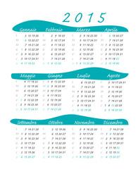calendario italiano 2015 blu