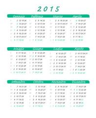 calendario italiano 2015 verde