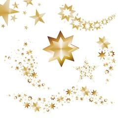 Set mit goldenen Sternen