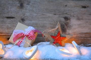 Weihnachtskarte - kleines Präsent