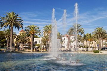 Fountain of the promenade of Salou