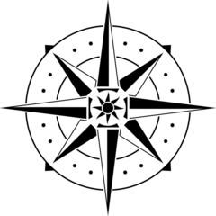 stencil of compass