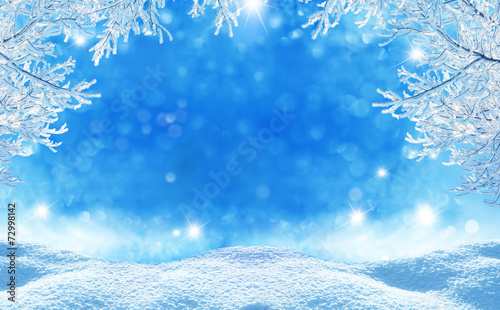 winter  christmas background poster