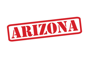 ARIZONA Red Rubber Stamp vector over a white background.