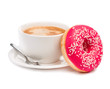 donut and coffee isolated - 72999335