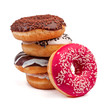 Leinwanddruck Bild - four slide donut isolated