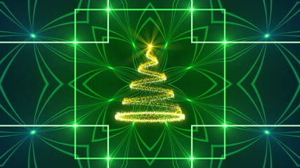 christmas, happy new year, abstract background, loop