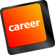 career button on the keyboard - business concept
