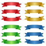 different colored ribbons