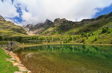 Trentino - small lake in Pejo Valley, Italy