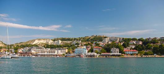 Summer panoramic landscape of Balchik town