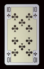 Spielkarten der Ladys - Kreuz Zehn