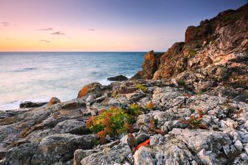 Coastline near St. Ives in Cornwall, UK.