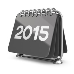 Calendar new year 2015. 3D Icon isolated on white background