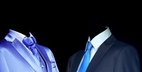 Mysterious stranger in elegant suit in darkness