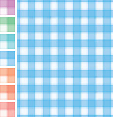 Tablecloth pattern with seven different colors. Eps 8