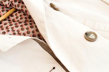 Texture - a white women's coat