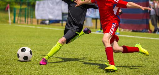 Football match for children. football soccer tournament