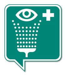 Logo lavage des yeux.