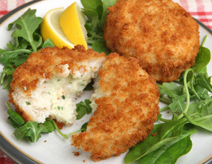 Cod Fishcakes with Salad