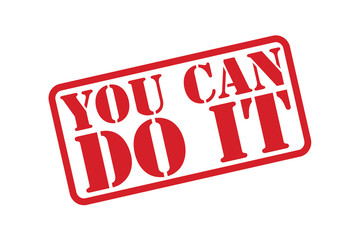 YOU CAN DO IT Rubber Stamp vector over a white background.