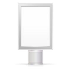 Vector illustration of blank City Light
