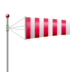 Vector illustration of red windsock