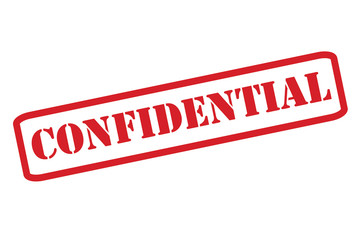 'CONFIDENTIAL' Red Stamp vector over a white background.
