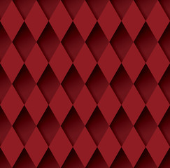 Red geometric background vector.